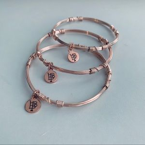 Bourbon and Bowties Rose Gold Bangle Stackers